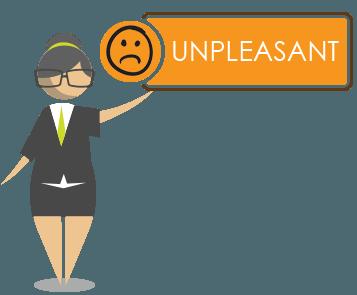 unpleasant